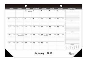 Calendario Lunar Febrero 2020.Towwi Enero 2019 Febrero 2020 Ano Calendario De Escritori