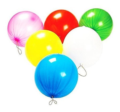 toy cubby neon fun colored punch balloon, 10 \globos, 50
