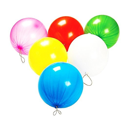 toy cubby neon fun colored punch balloon 10 globos 50 piezas