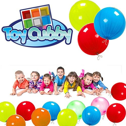 toy cubby neon fun coloured punch balloon, 10 \globos, 100
