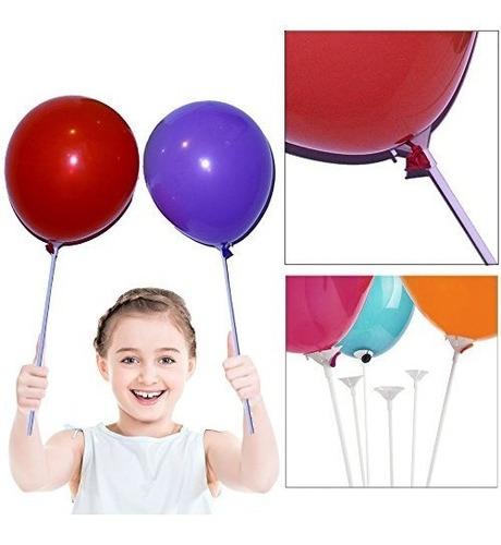 toy cubby party globo blanco y palos de soporte con copa de