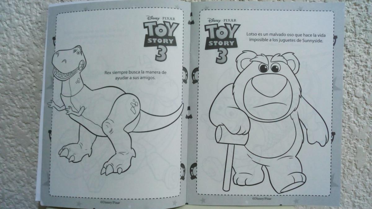 Toy Story 3 Buzz Woody Set 20 Libros Colorea Ilumina C Envio