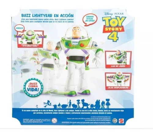 toy story 4 buzz lightyear movimientos reales