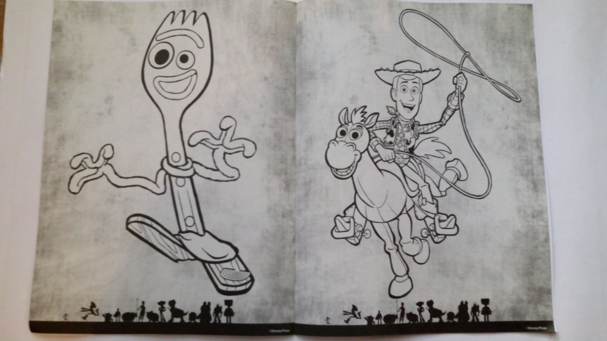 Toy Story 4 Buzz Woody Set 65 Libros Colorear Forky C Envio