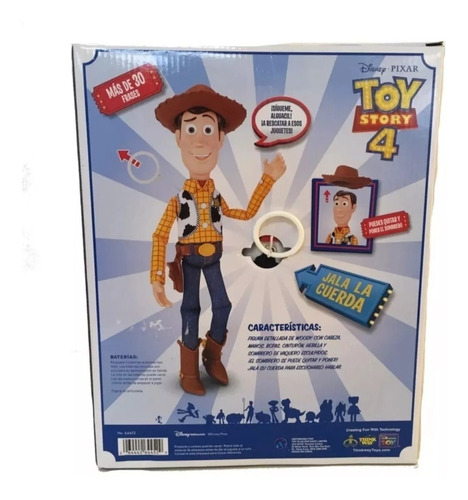 toy story 4 woody comisario parlante deluxe español cuerda