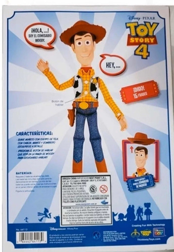 toy story 4 woody interactivo 15 frases original