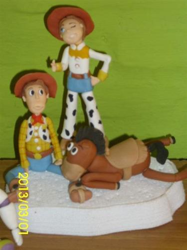 toy story adorno en porcelana fría para tu torta