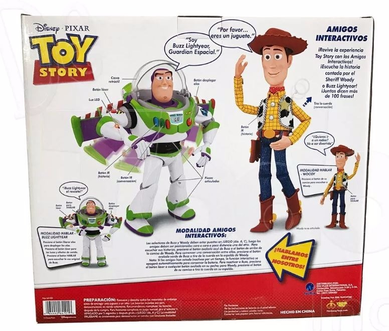 Toy Story Buzz Lightyear Woody Amigos Interactivo 100 Frases ... 9e02777f893