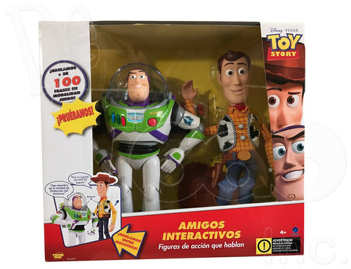 toy story - buzz lightyear & woody - amigos interactivos