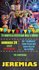 Toy Story Invitación Pizarra Tarjeta Digital Imprimible