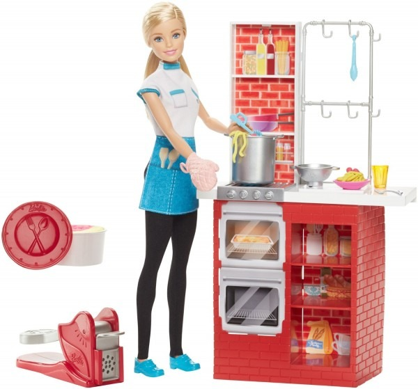Toybox Barbie Chef De Pasta Cocina U S 75 00 En Mercado Libre