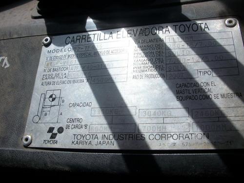 toyota 3.5 doble torre con desplazador nafta/gas  muy bueno