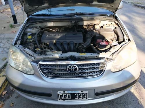 toyota corolla xei 2007 gris manual 200 mil km