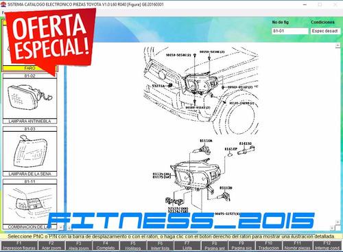 toyota despiece partes catalogo 1969 2016 full envío dvd