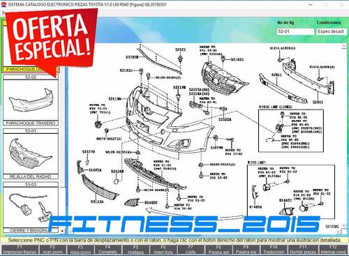 toyota epc despiece partes catalogo 2017 18 español + lexus