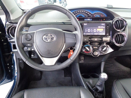 toyota etios 1.5 xls sedan (flex) azul - 2015/2016