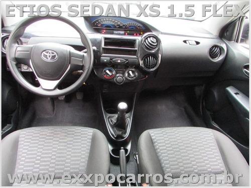 toyota etios sedan xs 1.5 flex - ano 2013 - bem conservado