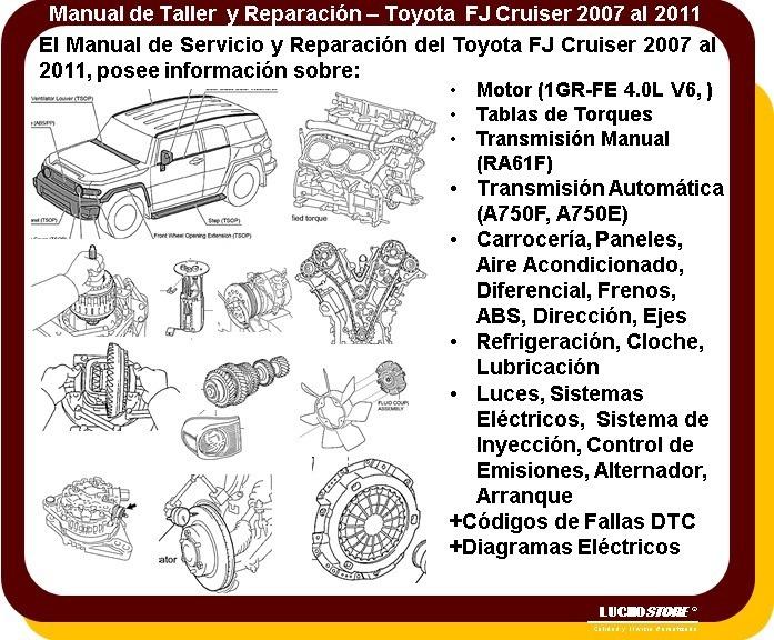 toyota fj cruiser manual servicio reparaci n diagramas 07 11 119 rh articulo mercadolibre com ar