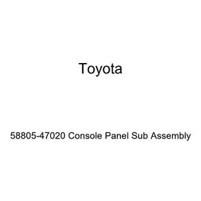 TOYOTA Genuine 58805-07050-C1 Console Panel Sub Assembly