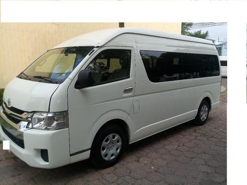 toyota hiace 2.7 bus 15 pas mt  modelo 2015