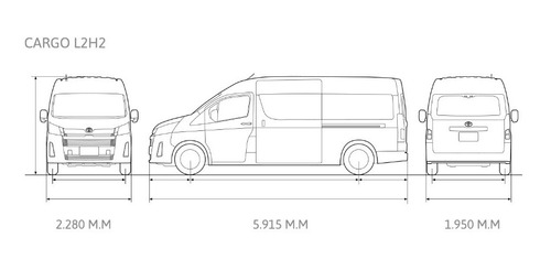 toyota hiace 2.8 tdi furgón 6at l2h2 3a 5p 2020