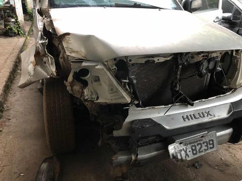 toyota hilux 2.5 cab. dupla 4x4 4p 2011 diesel sinistro