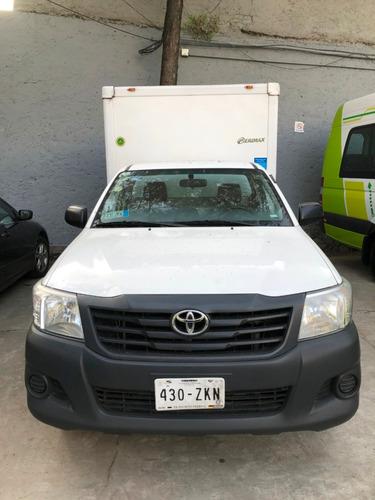 toyota hilux 2.7 chasis cabina mt con caja refrigerante