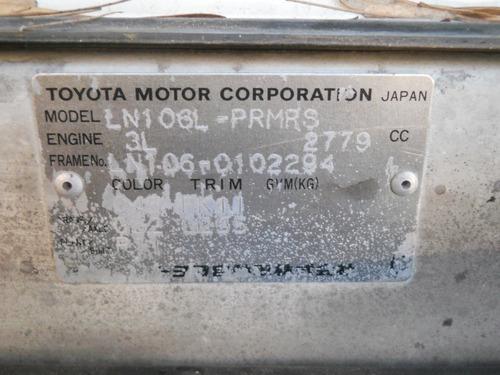 toyota hilux dlx motor 2.8 aspirado 4x4
