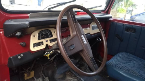 toyota land cruiser fj-40 1979 rojo motor reparado