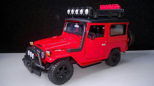 toyota safari fj40 20 cms de largo color rojo