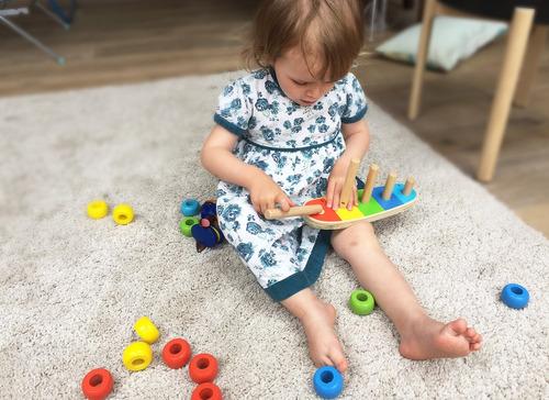 toys of wood oxford - juego de apilamiento de madera con