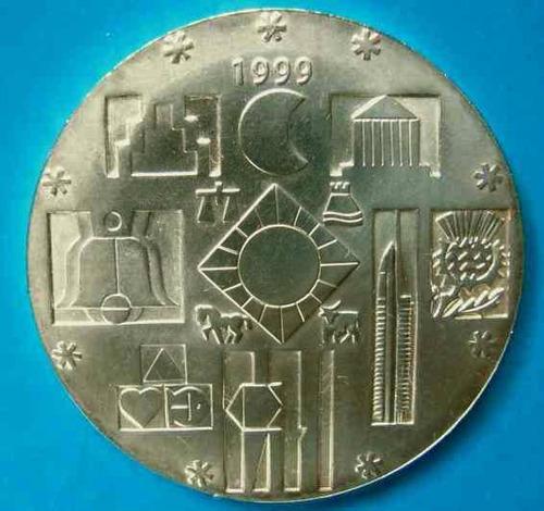 tp 1999  2000moneda conmemorativa de plata cambio de milenio
