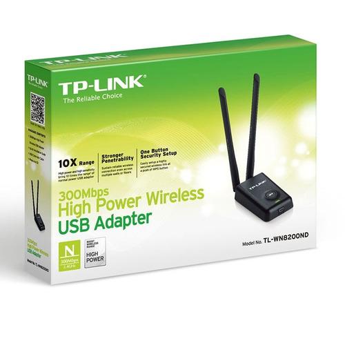 tp-link 300mbp adaptador alta potencia rompemuro tl-wn8200nd
