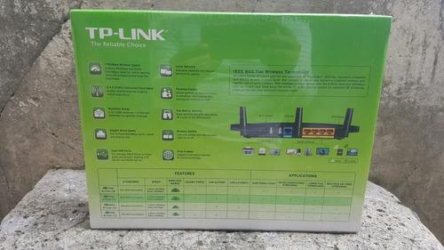 tp-link, ac1750 router dual band gigabit, archer c7 + bonos