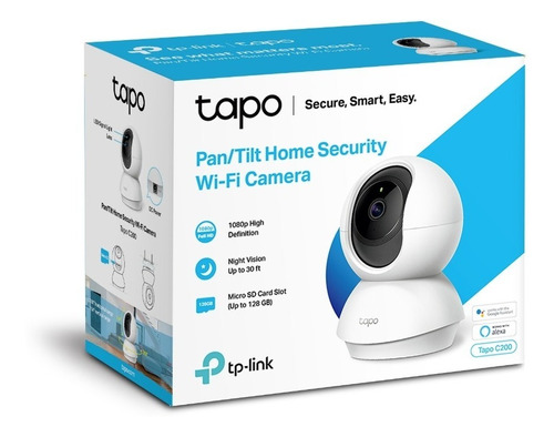 tp-link, cámara ip wifi robótica, full hd / audio, tapo c200