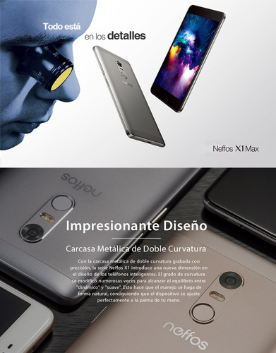 tp-link, celular neffos x1 max 5.5'' octa-core huella gris