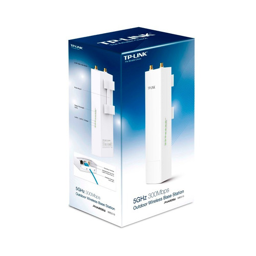 tp-link, estación base wi-fi 5ghz 300mbp, wbs510