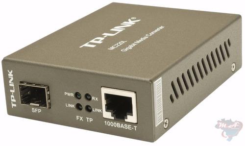 tp-link mc220l conversor rj45 mídia -fibra ótica gigabit sfp