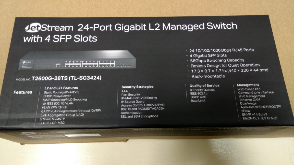 Tp-link Switch 24p T2600g-28ts Tl-sg3424 + 4sfp Gerenciavel