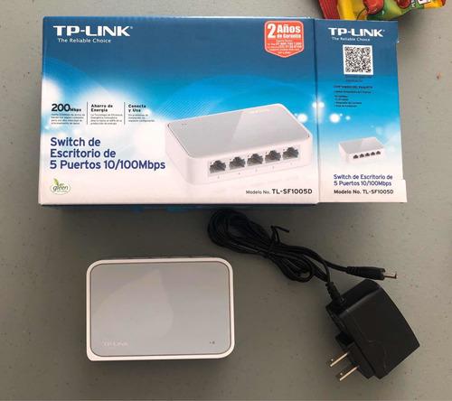 tp-link tl-sf1005d switch 5 puertos 10/100mbps ethernet