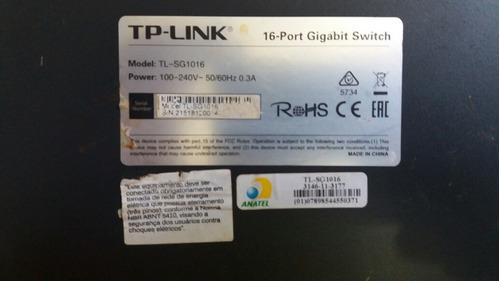 tp-link tl-sg1016 gigabait (leia anuncio)