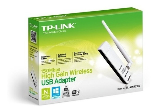 tp link wn722n adaptador red usb wi fi n150 alta ganancia