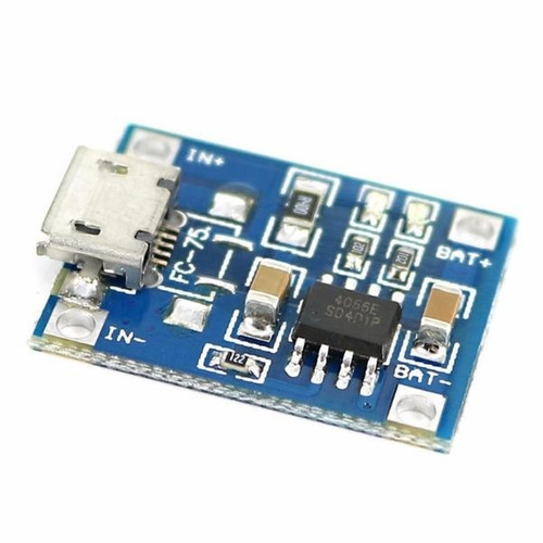 tp4056 c/protec cargador bateria 18650 micro usb arduino