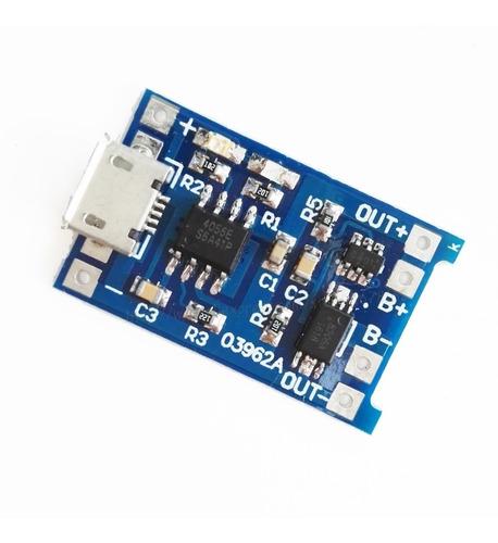tp4056 mini usb carregador bateria lithium 25 unidades