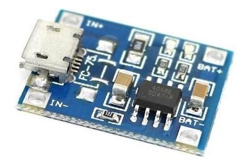tp4056 módulo de carga micro usb 5v 1a 18650 bateria 3,7v