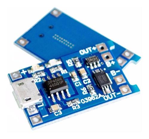 tp4056 modulo usb cargador batería litio 18650 + protección