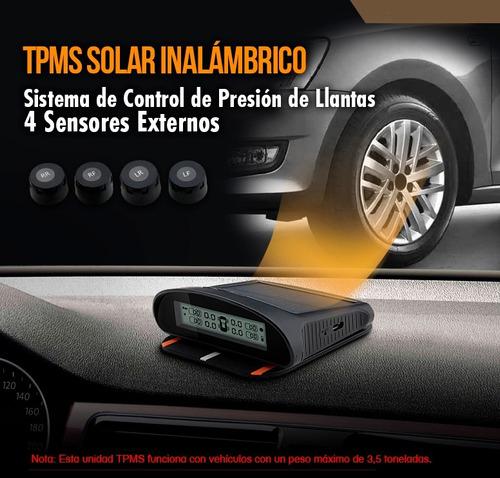 tpms monitoreo sensor presion llantas con monitor universal