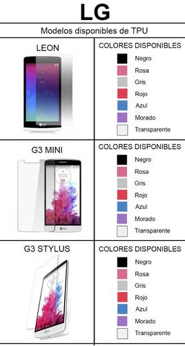 tpu de mayoreo 250 tpu x 4750 pesos lg varios modelo colore