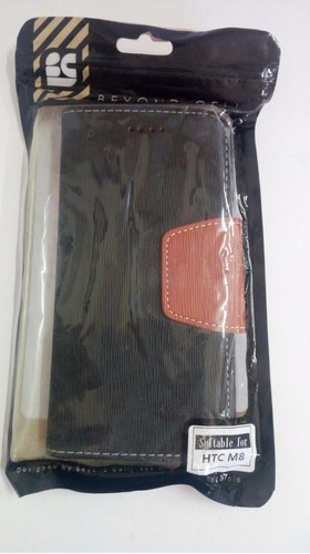 tpu funda carcasa protector htc m8 negro/cafe (116) nepa