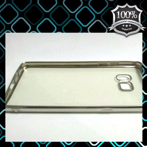 tpu note 7 borde plateado